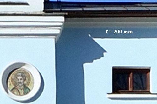 Фокусное расстояние f=200