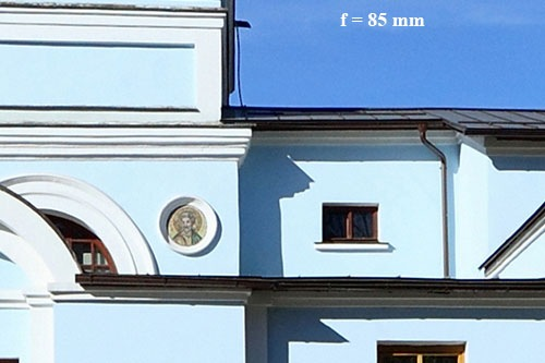 Фокусное расстояние f=85 мм
