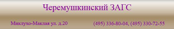 Черемушкинский ЗАГС