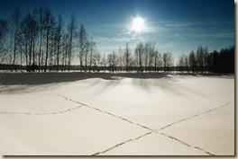 Михаил Романовский после снегопада